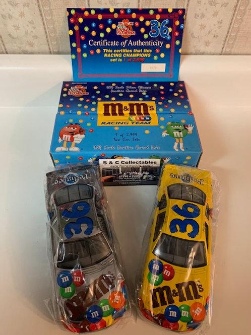 1999 M&M's  Reg & Gold Chrome 2 Car Set / Ernie Irvan 1:24