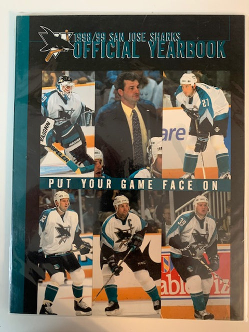 1998 Jose Sharks Magazine 1988-1999 Official Yearbook