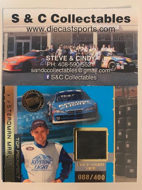2003 Race-Used Piece of Tire / Steadman Marlin  Cards