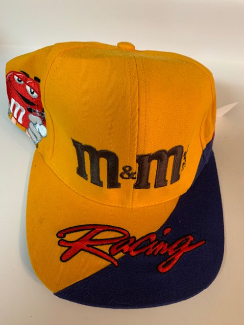 2001 M&M Yellow with Cool Blue on the side of the Hat (NEW)  / Ken Schrader  Hat