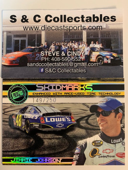 2007 Enhanced with Race-Used Tire Technology  / Jimmie Johnson  Cards