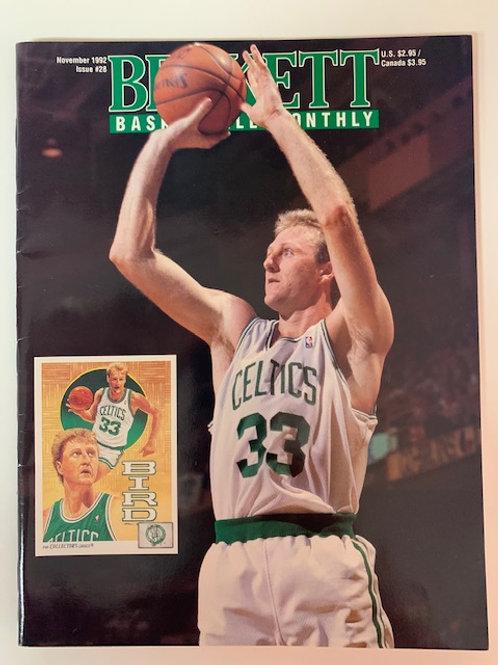 1992  Beckett Card Monthly Issue# 28 Larry Bird / Basketball