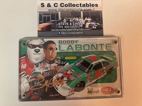 2001  Authentic Images 24K Gold Signature Series / Bobby Labonte Box# EE