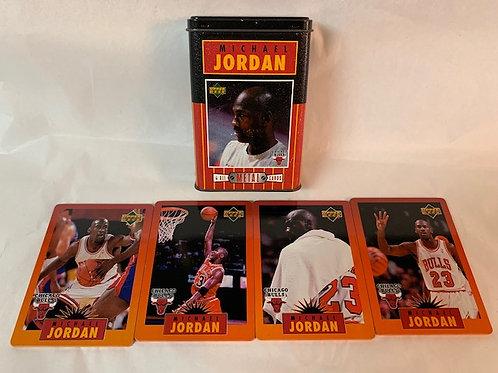 1996 - 4 All Metal Cards (Blemishes of Tin) / Michael Jordan Box# 43