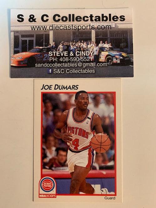 1991-92 NBA Hoops Joe Dumars III Card# 11 / Basketball-BK1
