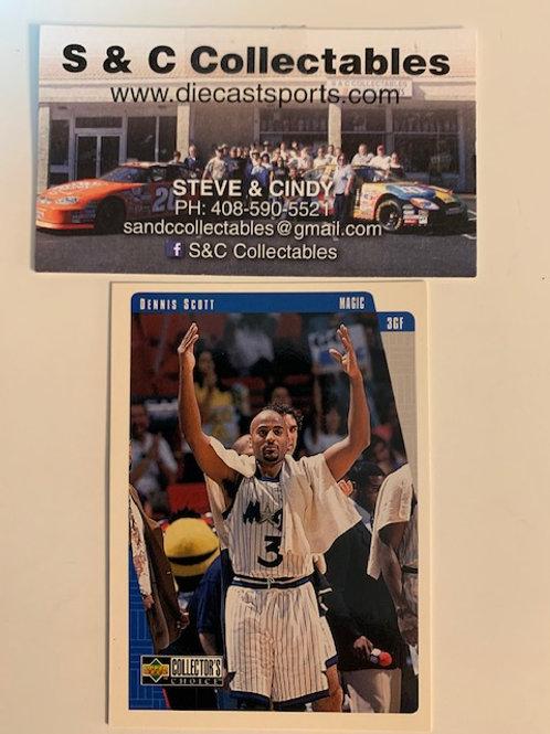1997-98 Upper Deck Dennis Scott Card# 99  / Basketball--BK1