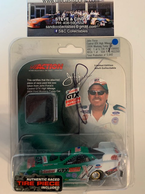 2004 Autographed Castrol GTX High Mileage with a Piece of Tire / John Force 1:64
