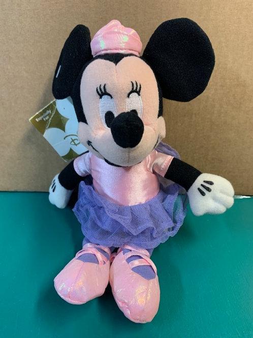 "Disney Beanies Sparkle Minnie Mouse Ballerina Rainbow Tutu 8"""