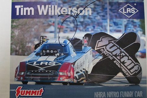 2017  Autographed LRS - Summit Racing Funny Car  #3 / Tim Wilkerson