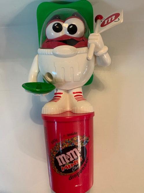 2006 M&M Mini Dispenser  Red Astronaut (Has some Blemishes)  / M&M Stuff Box# 97