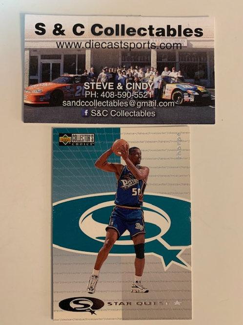 1997-98 Upper Deck Otis Thorpe Pistons Card# sq36 / Basketball-BK1