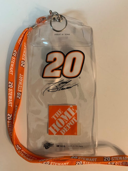 2004 The Home Depot  Credential Holder w/Lanyard / Tony Stewart  Box# 100