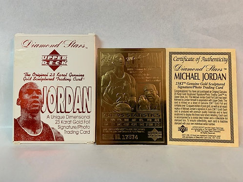 1996 Diamond Stars 23 Karat Gold Card / Michael Jordan Drawer# 1