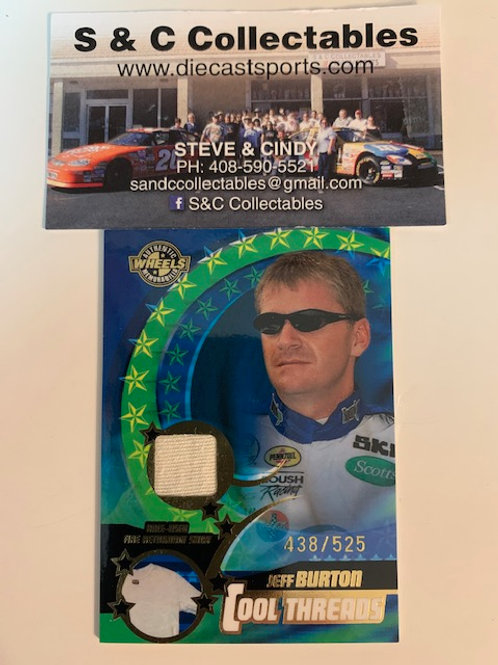 1999 Raced-Used Piece of Shirt #438 / Jeff Burton  Cards