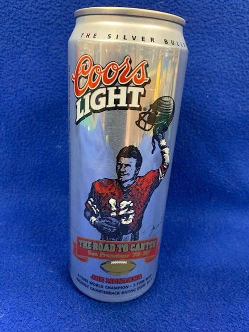 1993 Coors Light The Road to Canton Joe Montana Can