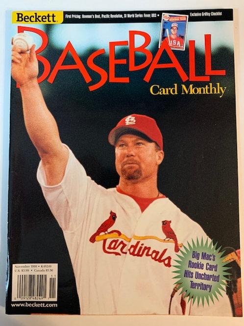 1998 Beckett Card Monthly Issue# K48249 / Mark McGuire-Baseball