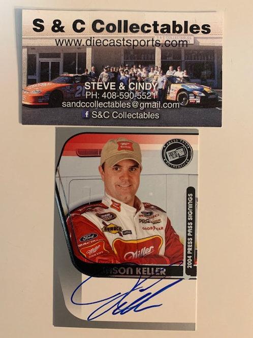 2004 Autographed Press Pass Signings / Jason Keller  Box# EE