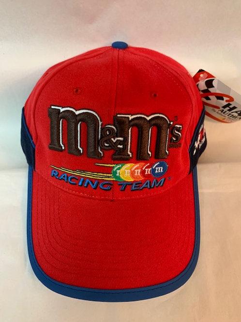 2002 M&M's Brand Red with a little blue  Hat / Elliott Sadler Hat#38