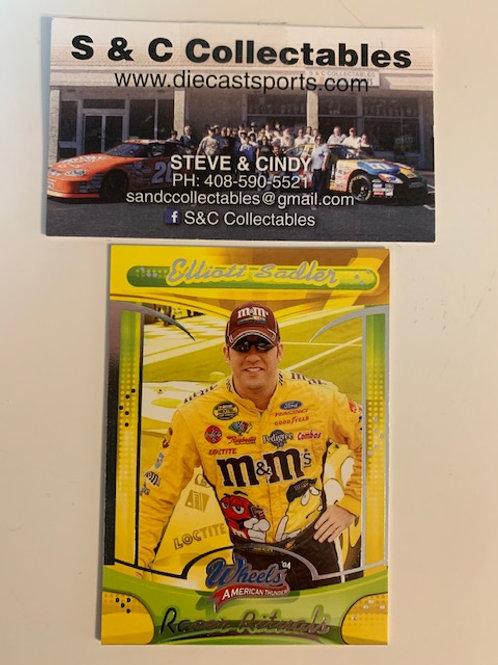 2004 Wheels American Thunder Racer Rituals Elliott Sadler / Cards  Box# FF