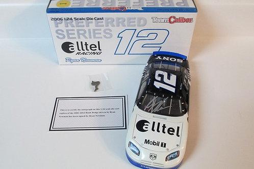 2006 Alltel Racing Bank Autographed / Ryan Newman 1:24  Wall
