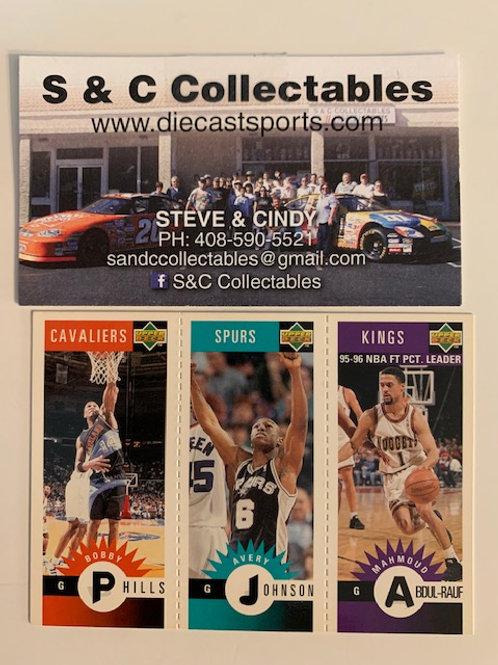 1996-97 Upper Deck M17 Phills, M74 Johnson, M22 Aboul-Rauf    / Basketball--BK1