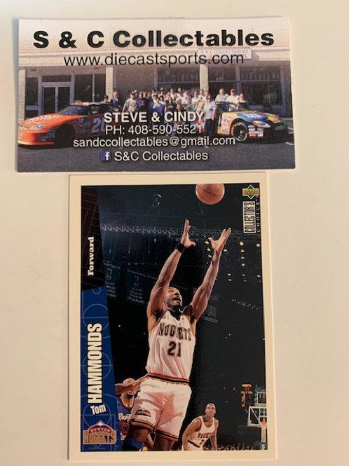 1996-97 Upper Deck Tom Hammonds Forward Card# 44 / Basketball--BK1
