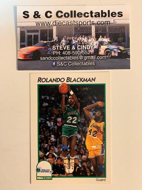 1991-92 NBA Hoops Rolando Blackman Card# 9 / Basketball-BK1