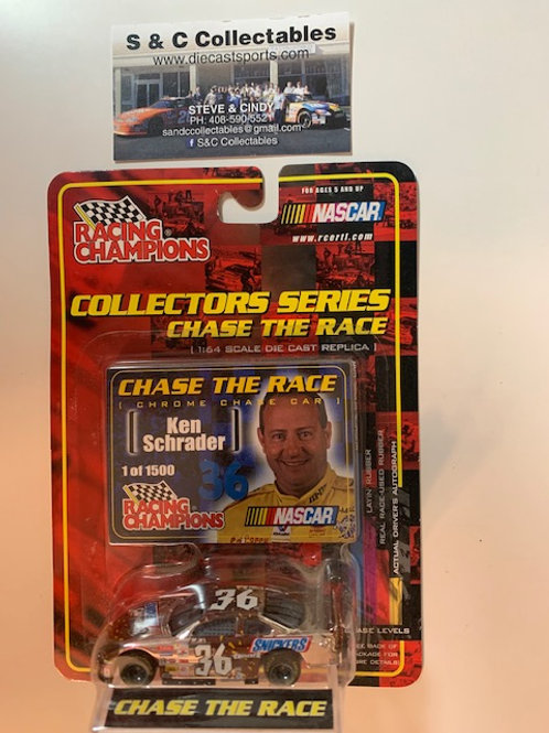 2001 Snickers Cruncher Chrome Chase Car / Ken Schrader  1:64 Box#36