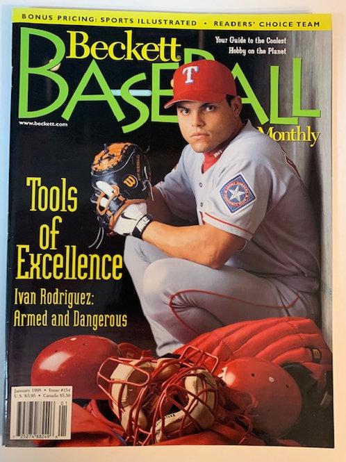 1998 Beckett Card Monthly Issue# 154 / Ivan Rodriguez-Baseball
