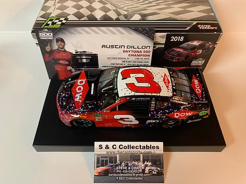 2018 Dow-Daytona 500 Raced Winner / Austin Dillon 1:24  Wall