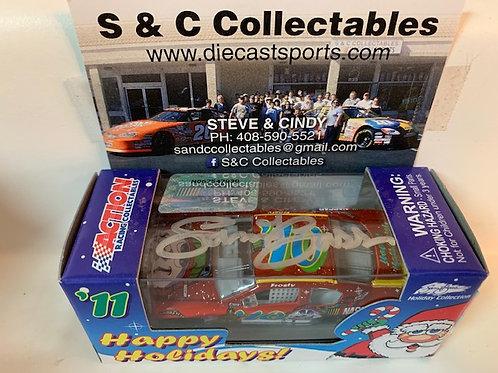 2011 Autographed Sam Bass Christmas Holiday Car  / Event Cars 1:64  Shelf #A