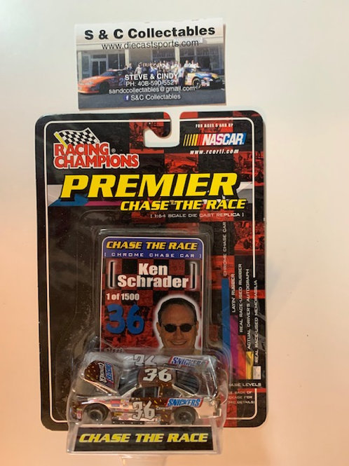 2001 Snicker Cruncher With Car Cover Chrome Chase Car / Ken Schrader 1:64 Box#36