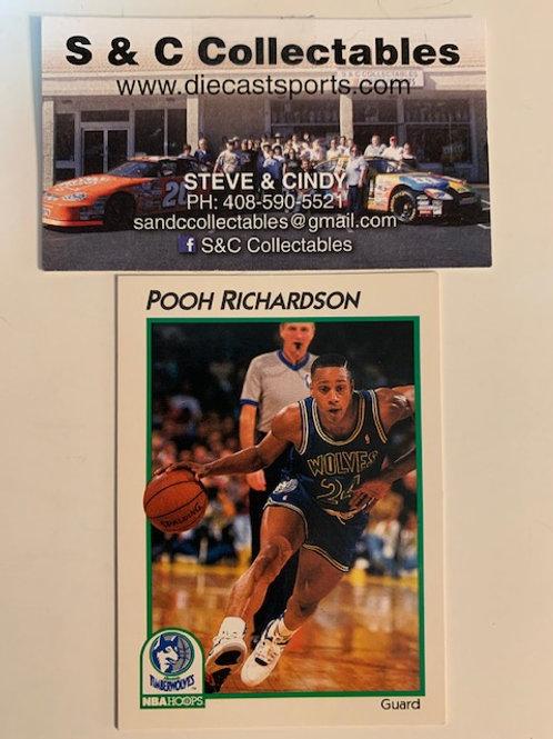 1991-92 NBA Hoops Pooh Richardson Card# 24 / Basketball-BK1