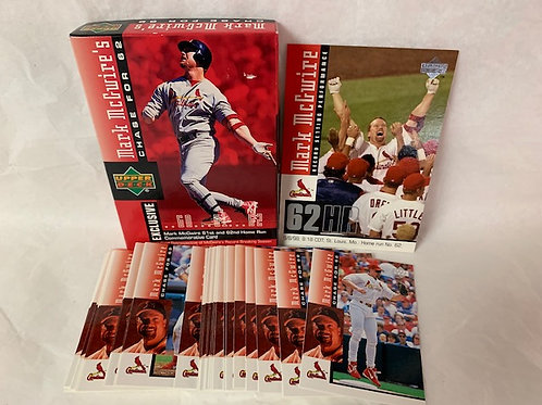 1998 Upper Deck Chase for 62 Complete 30 Card Set  (Opened)  / Baseball Box# 43