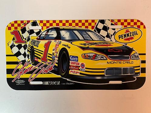 2001 Pennzoil License Plate / Steve Park Box# 95
