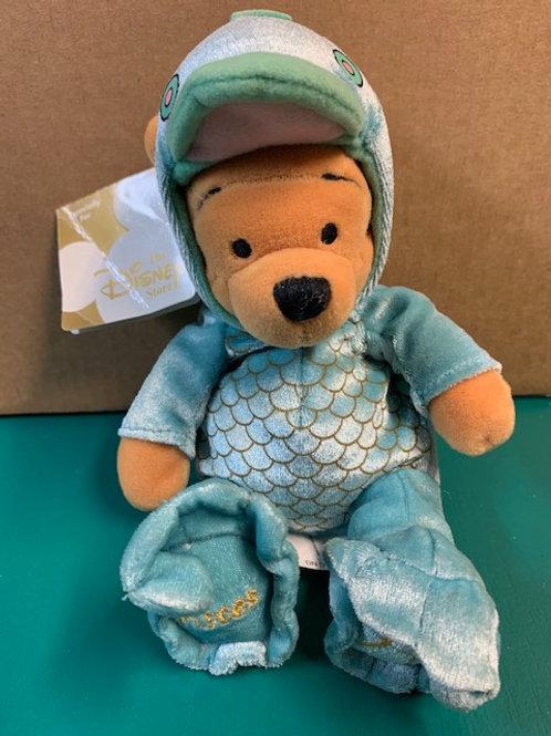 "Disney Beanies Willie the Pooh Zodiac Pisces Pooh 8"""