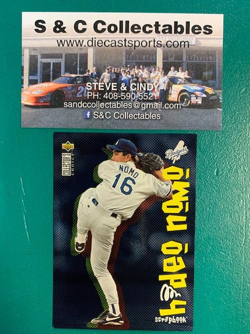 1996 UD Collector's Choice  Scrapbook Hideo Nomo / Baseball  Box# B1