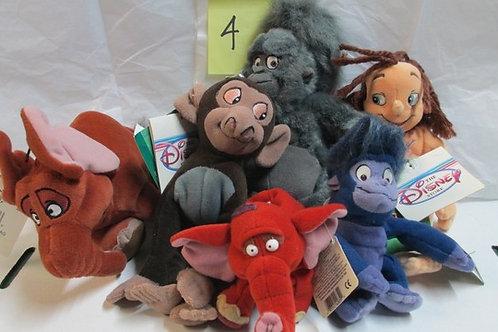 6 Set of Disney's Tarzan / Disney Beanies