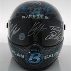 2019 Autographed Helmet  / Larson, Stenhouse, Bell, Bubba, Moffitt 1:4 Wall