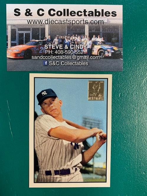 1996 Topps Commemorative  Mickey Mantle / Baseball Box# B1