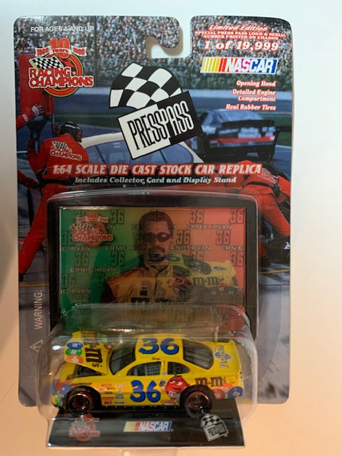1999 M&M's Car with Display Stand / Ernie Irvan 1:64 Box# 1