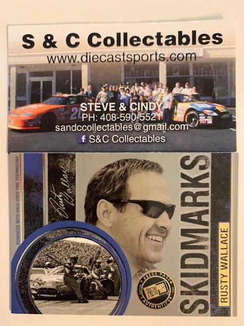 2006 Skidmarks Race-Used Tire  / Rusty Wallace  Box# FF