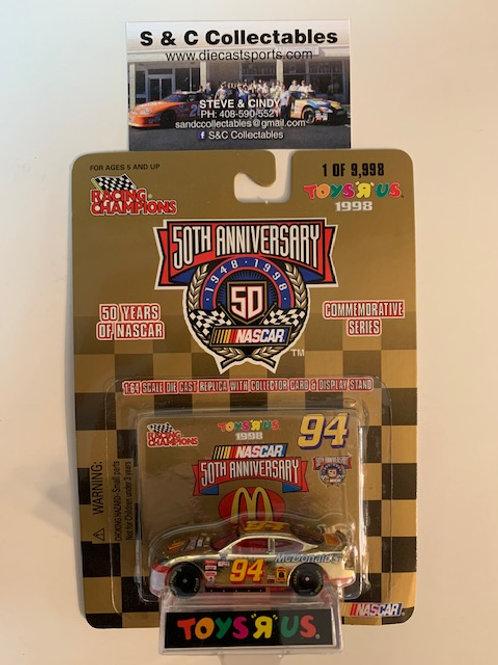 1998 NASCAR 50th McDonald's Toy's R Us Gold Car / Bill Elliott 1:64  Box# 42