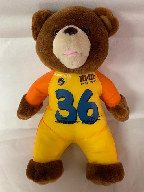 "1998 M&M's/Pedigree  Yellow/Orange Bear 12"" Tall / Ernie Irvan Box#1"