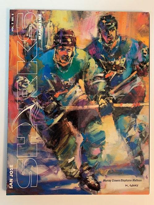 1997 San Jose Sharks Magazine Vol.7  No. 5 / Murray Craven - Stephane  Matteau