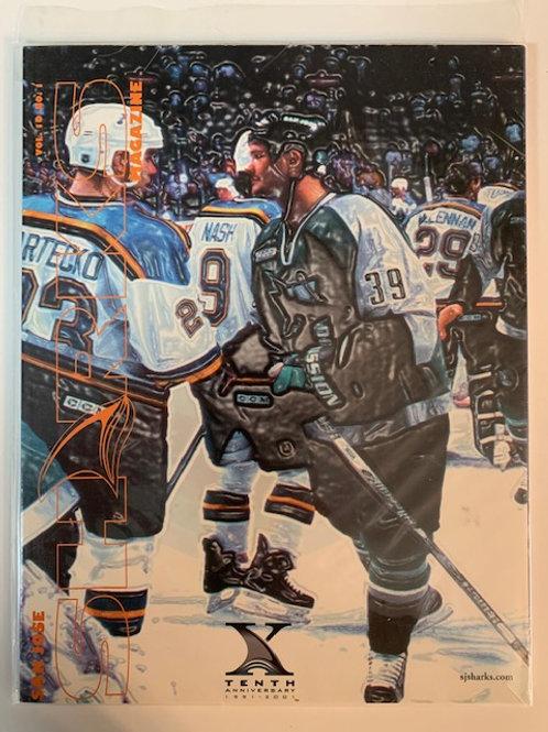 1999 San Jose Sharks Magazine Vol. 10 No.1 /Sjsharks.com