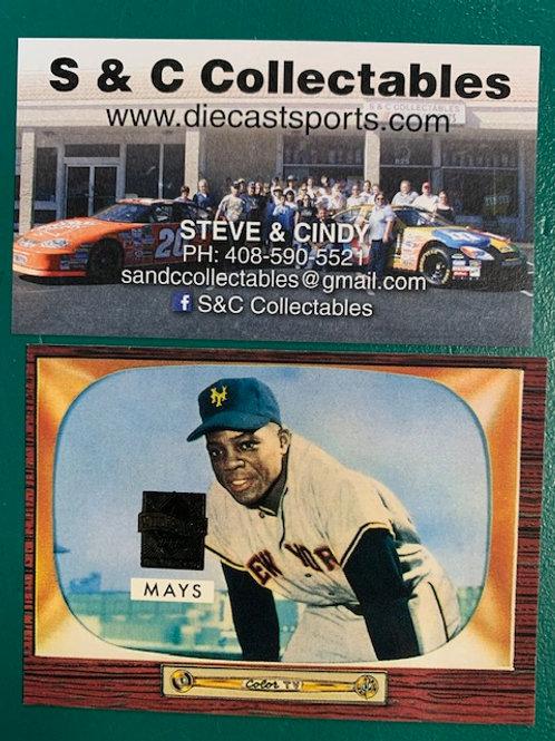 1996 Topps Commemorative Willie Mays   Giants Card / Baseball   Box# B1