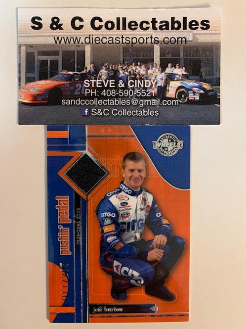 2006 Raced-Used Piece of Shoe / Jeff Burton Cards