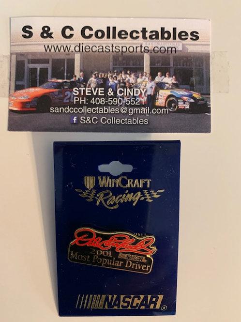 2001 Most Popular Driver Hat Pins / Dale Earnhardt Sr.  Hat Pin #7