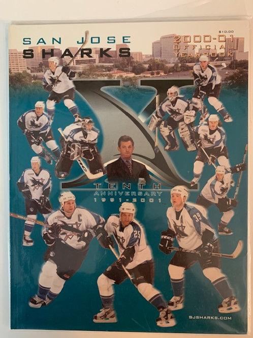 2000 Jose Sharks Magazine 1991-2001 Tenth Anniversary